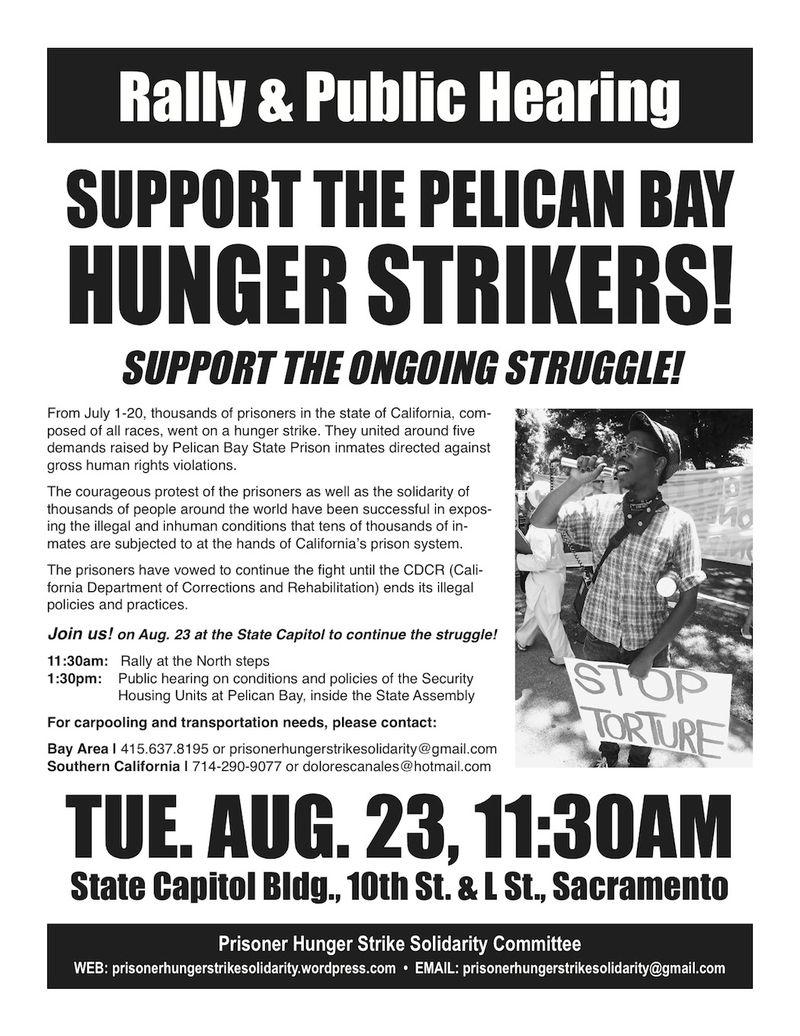 Aug 23 Hunger Strike Rally